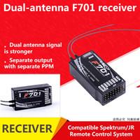 receptor para rc venda por atacado-JR Spektrum ppm 2.4 GHz 7CH DSMX DSM2 Espalhar F701 Receptor Para JR Spektrum RC Sistema de Controle Remoto