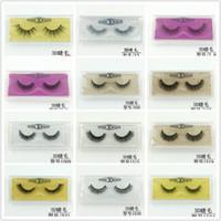 Wholesale shortest false eyelashes for sale - Group buy style short false eyelash d mink eyelashes colouful bottom card cross natural false eyelashes fake eyelash freeshipping