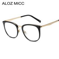 190cdc3718c4 ALOZ MICC Vintage Women Square Glasses Frame Fashion Optical Glasses Clear  Transparent Lens Men Eyeglasses A354 on sale