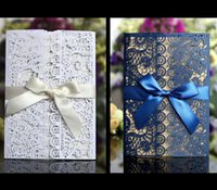 casamento do laser convida venda por atacado-os convites do casamento dobram o casamento oco do bolso do corte do laser convidam a tampa do cartão do convite