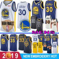 maillot de basket durant achat en gros de-NCAA Stephen Curry 30 Retro Kevin Durant 35 Basketball Maillots 1 Russell Draymond 23 Vert Klay Thompson 11 Andre 9 lguodala Hot bien la vente
