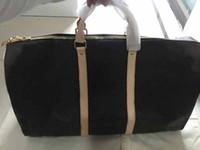 calidad del bolso del diseñador al por mayor-Keepall Luis Vit diseño de lujo del monedero del bolso de cuero genuino de alta calidad bolsas L patrón de flores de equipaje de viaje de lona