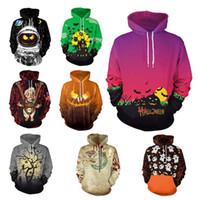 lange mantel stile männer großhandel-Halloween Hoodies 11 Styles 3D Gedruckt Männer Frauen Sweatshirts Mantel Lässig Langarm Lose Pullover Trainingsanzüge LJJO7142