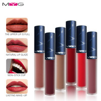 Wholesale mixing red purple lipstick for sale - Group buy Brand Lips Makeup Cosmetic Matte Liquid Lipstick Waterproof Lip Gloss Professional Lip Cosmetics Red Nude Purple Lip Gloss