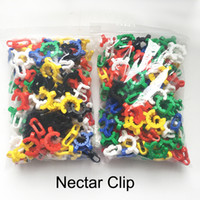Wholesale keck clamp for sale - Group buy 14mm mm Plastic Keck Clip K Clips Laboratory Lab Clamp Clip Plastic Lock for Glass Bongs Water Pipes Adapter Nectar Collector