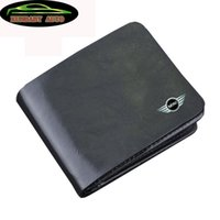 Wholesale KUNBABY Top Quality Genuine Leather Black Document Bag Wallet Card Package Coin Holder Case For Mini Cooper