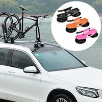 çatı rafı alüminyum toptan satış-Alüminyum Alaşım Bisiklet Araba Raf Taşıyıcı Çatı Üst Emme Hızlı Kurulum MTB Dağ Bisikleti Yol için Enayi Portbagaj Bisiklet # 107055