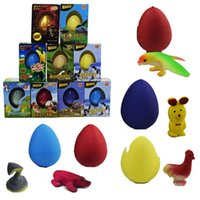 Wholesale growing toys hatch egg resale online - Novel Growing Toys Water Hatching Easter Egg Magic Dinosaur egg Soaking expansion animal Toys Interesting Birthday Xmas Festival kids Gifts