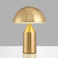 led aydınlatma deco masa toptan satış-Postmodern minimalist ışık yatak odası çalışma masa lambası İskandinav kişilik yaratıcı mantar masa lambası