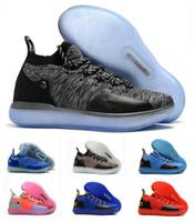 wholesale dealer 53cf7 cb7b9 Neue Jungen Kinder Kevin Durant KD 11 11S Multi-Color KD11 XI Trainer Zoom Jugend  Mädchen Frauen Basketballschuhe X Elite Mid Sport Turnschuhe 36-40