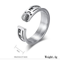 Wholesale band frequency for sale - Creative Titanium Steel Fifty two Hz Whale Rings for Women Men Hz Frequency Lonely Whale Radio Rings Opening Finger Jewelry