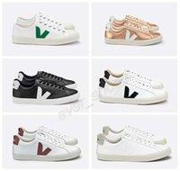 sapatos de esporte de couro branco venda por atacado-2019 Nova VEJA ESPLAR Sneakers extra de couro Casual V Sapatos Moda Mens Mulheres Luxo Superstar Branco Designer Chaussures Sports Trainers