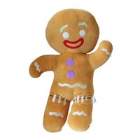Wholesale men doll toys video online - New Shrek Gingerbread man plush biscuit toys cute sleeping pillow soft stuffed sofa doll house decoration