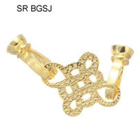 Wholesale knot connector resale online - x29mm Micro Inlay Zircon Jewelry DIY Chinese Knot Connector Clasp