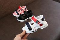 ingrosso pattino dei capretti del ragazzo di disegno nuovo-Nuovo design 2019 Scarpe per bambini Toddler Summer Sandalo Sneakers per bambini Morbide e traspiranti comode Baby Boys Girls Kid Beach Shoes