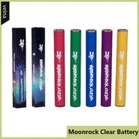 luces de batería led vape al por mayor-Batería Moonrock Clear Dr.Zodiaks 350mAh Precalentamiento 10.5 mm 510 Bud Touch LED Light Vape Pen para Bobby Blue Razzle Dazzle Cartuchos de carros