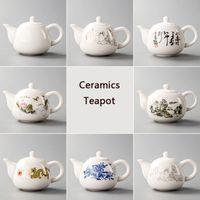 vasos de chá china venda por atacado-Bules de cerâmica Yixing Bule de Chá Branco Porcelana Conjuntos de Chá Bule Chinês Kung Fu Chaleira Infusor Teaset Infusor China Chá Copos D001