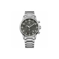 Wholesale ceramic watch black quartz resale online - New Hot Quartz Men s Watch Six Needles Chronography Grey Dial Steel Fashion Mens Watches HB