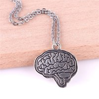 Wholesale brain pendant resale online - 23252 Brain Necklace Jewelry For Doctors Alloy Jewelry For Neurologist And Neurosurgeons Gift Women Necklace