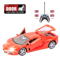 Wholesale flash car key resale online - Rc Flashing Rc Car ch Rc Drift Model Remote Control Drift Cars Rechargeable Battery One Key Open Door With Radio Control