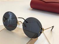 Wholesale women modeling sunglasses for sale - Group buy New fashion designer sunglasses frameless round frame weave modeling sunglasses top quality protection eyewear