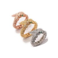 Wholesale high quality cubic zirconia stones for sale - Group buy Fashion Snake Rings lady Ring Fashion Design Long Finger Jewelry High Quality Snake Shaped Ring for Women Party