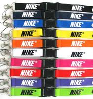 rozet zincirleri toptan satış-Yeni Ücretsiz kargo 10 adet spor Giysi logosu İpi yaka kartı Anahtarlık Tutucu zincir iPod Kamera Boyun Askısı Ayrılabilir Renkli