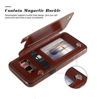Wholesale leather iphone wallet credit card cases online – custom For iPhone S X Xs Max Xr Plus Wallet Case For Samsung S10 S9 S8 Plus Note Luxury PU Leather Case Cover with Credit Card Slots