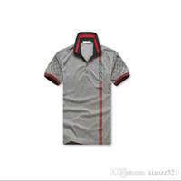 27553dc5b241 Polo maniche corte G     I uomo nuovo di zecca 8958 Polo maniche corte  ricamo t-shirt uomo per gli uomini Polo di cotone manica corta grigio