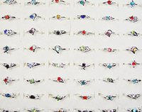 imitações anéis venda por atacado-Moda Rhinestone Banhado A Prata Anéis Para As Mulheres Imitação De Ródio Banhado A Jóia Todo Lotes A Granel Lr120 Frete Grátis