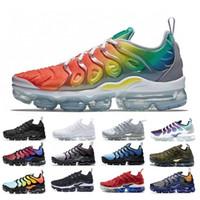 erkekler için yeni koşu ayakkabıları toptan satış-2019 Yeni Geliş Ücretsiz Kargo tasarımcıları Ayakkabı erkek Sneakers TN Gökkuşağı Artı Nefes Hava Cusion Ayakkabı Rahat Koşu Ayakkabıları boyutu 36-45