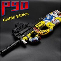 Wholesale boys weapon toys for sale - Group buy 2020 new Electric P90 Graffiti Edition Toy Gun Live Assault Snipe Simulation Weapon Outdoor Soft Water Bullet Gun Toys For Boys Kids