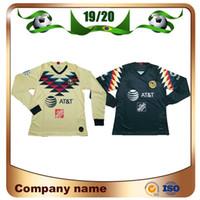 Wholesale long sleeve mx jerseys for sale - Group buy 2019 Long sleeve LIGA MX Club America soccer Jerseys America team C DOMINGUEZ O PERALTA P AGUILAR Football shirt uniform