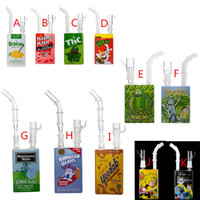 Wholesale cereal boxes resale online - Hitman Smoking Glass Juice Box Dab Oil Rigs Beaker quot inch Liquid Sci Glass Cereal Box Water Pipes Themed Concentrate Rigs Hookahs Cheap