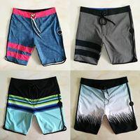 bermudas homens venda por atacado-Homens Swimwear Boardshorts 2019 Verão Listrado Praia Shorts Quick Dry Waterproof Bermuda Surf Shorts Designer Marca Swim Shorts 05