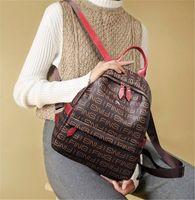 preppy style vintage kadın omuz çantası toptan satış-Tasarımcı Preppy Stil Yeni Moda Kadın Sırt Çantası Pu Deri Retro Kadın Okul çantaları Genç Kız Seyahat Kitapları Sırt Çantası Omuz Çantaları
