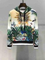 moletom italiano venda por atacado-DG Rainforest Impressão Mens Camisola Com Capuz Designer Marca Italiana Moletom Moda Casual Algodão Conforto 2019 Novo Moletom Com Capuz