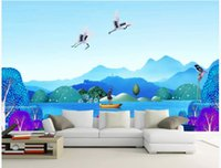 Wholesale paper scenery 3d for sale - Group buy Custom photo wallpapers D mural wall papers Ink landscape new Chinese style hand painted Chinese painting sofa background wall scenery