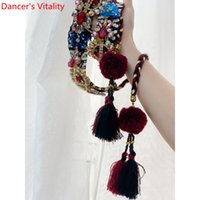 Wholesale indian belts women for sale - Group buy New Arrival Women Belly Dance Fashion Rhinestone Tassel Belt Matching Waist Chain Oriental Indian Dancing Performance Accessorie Y200424