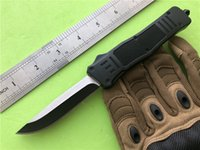 Wholesale tactical combat survival gear resale online - Medium Combat Double action Outdoor knife Black C Blade EDC survival gear Hunting A161 Tactical knives with Sheath P891M R