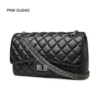Wholesale two hearts locked chain for sale - Group buy Pink sugao designer crossbody hanbag women luxury messenger bags shoulder bags of high quality pu leather purse clutch bags chain bag color