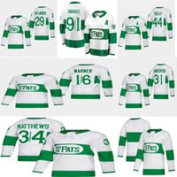3bef2d9c2a4 2019 Toronto St. Pats and black Toronto Maple Leafs Jersey 16 Mitchell  Marner 44 morgan rielly 29 william nylander 31 Frederik Andersen hoc