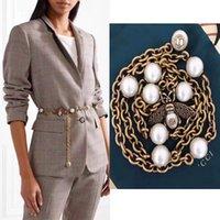 colares de pérolas de bronze venda por atacado-Jóias de luxo top de bronze colar de pérolas de abelha cinto Senhoras jóias presente de natal