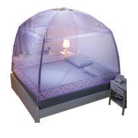 tienda de mosquitos al por mayor-Redondeado Mosquitera para Adultos De tres puertas Canopy Netting para Princess Bed Zipper Bed Canopy Students Mesh Bed Tienda VT0149