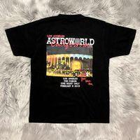 casual clothing apparel 도매-Travis Scott AstroWorld 남성 티셔츠 반소매 크루 넥 캐주얼 의류 월드 투어 콘서트 의류
