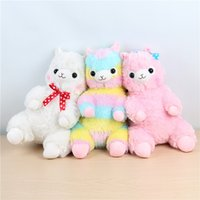 Wholesale japanese anime plush stuffed for sale - Group buy 15cm Kawaii Japanese Rainbow Alpacasso Plush Sheep Toy Soft Plush Alpacasso Baby Plush Stuffed Animals Alpaca Gifts for Kids toys