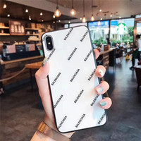 ingrosso casi telefonici squisiti-One Piece cassa del telefono di lusso per iPhone 6S 8 P X XS parola di moda con la cassa del telefono del progettista di vetro della copertura posteriore per i regali
