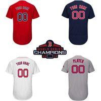 d73f940d6 Mens Custom Boston Red Sox 2018 World Series Champions Redsox Mookie Betts  Chris Sale David Ortiz J.D. Martinez Steve Pearce Baseball Jersey