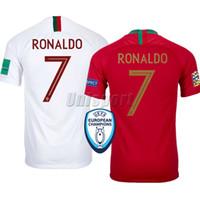 ingrosso portugal calcio jersey di calcio-Portugal Coppa del Mondo 2018 Ronaldo André Silva Quaresma Pullover di calcio Futbol Camisa Football Camisetas Maglia Kit Maglia Maillot Top