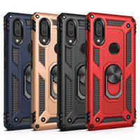 iphone stand rotierend großhandel-Für Samsung A10 A10E A20E A30 A20 A40 A50 A70 Drehring Halterung Magnet Autotelefonhalter Ständer Abdeckung zurück Fall